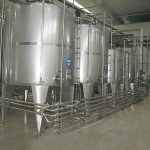 SUS316 Dairy Pasteurized  UHT Milk Processing Line Equipment Manufactures