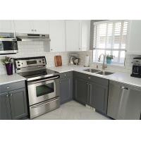 Marple Solid Wood Kitchen Cabinets Shaker Style Paint Finish Blum / Dtc Hardware Manufactures