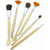 Quality Synthetic & Wool & Mixture Hair Artist Painting Brushes Set Aluminium Ferrule for sale