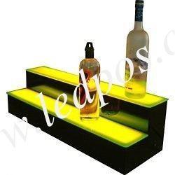 China Two Tiers LED Lighted Liquor Display Bar Shelf on sale