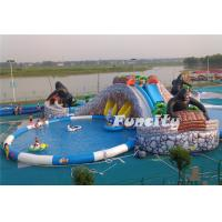 Mobile Inflatable Water Park Land Used for Entertainment Manufactures