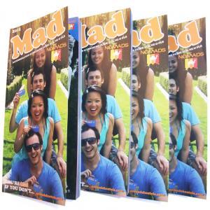 Quality Custom Glue Binding embossing brown kraft paper booklet printing / Color Booklet for sale