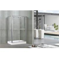 China Bright Silver Full Aluminum Alloy Shower Stall Enclosures One Fixed Panel For Apartment on sale