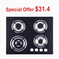Built In Glass Top Gas Hob With 4 Burner Providing OEM / ODM Service Manufactures