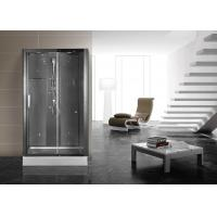 Matt Black Profiles Corner Shower Stall , Corner Shower Cubicles 1200 X 800 X 2200 mm Manufactures
