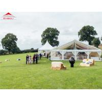 White Luxury Wedding Tents For Rental With Double PVC Fabric Side Wall Manufactures