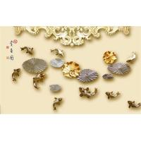 Swimming Fish Imitation Stone Panels Bamboo Fiber Embossed Surface 8mm 12mm Manufactures