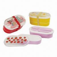Lunch Boxes, Made of Plastic, BPA-free, Customized Designs are Accepted Manufactures