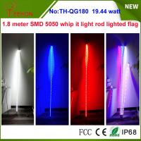 19.44w 7 inch Whip it light rod lighted flag for ATV, Camp Locator outside Manufactures