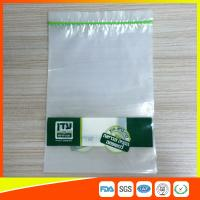 Disposable Biodegradable Zip Lock Packaging Bags For Household / Industrial Packing Manufactures