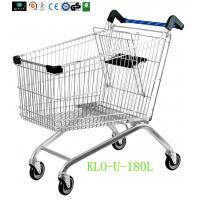 Portable Metal Chrome Plated Disabled Shopping Trolley For Hypermarket 180 Litre Manufactures