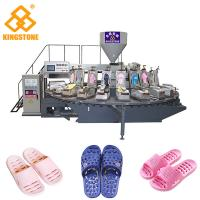 Rotary 2 Color PVC PCU Slipper Making Machine With Air Blowing System Manufactures