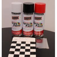 Weather Resistant Fast Dry Acrylic Spray Paint Black For Leather / Plastic Manufactures