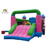 Durable PVC Pink Princess Inflatable Commercial Bounce Houses For Kids Outdoor Activites Manufactures