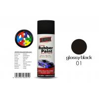 Natural Drying Removable Rubber Spray Paint Glossy Black Color For Car Manufactures