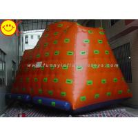 Yellow Gigantic Inflatable Water Park / Inflatable Climbing Iceberg Floating Water Game Manufactures