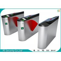 RFID 304 Stainless Steel Flap Barrier Gate With Access Control System Manufactures