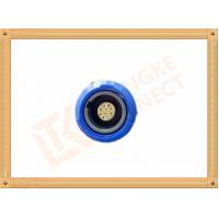 Blue Plastic Female Push Pull Circular Connectors / 10 Pin Circular Connector Manufactures
