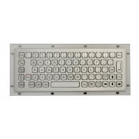 Mini Industrial Metal Keyboard No FN Keys , Panel Mount Keyboard USB / PS2 Connectors Manufactures