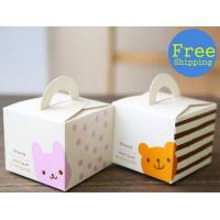 Biodegradable Single Cute Cookie Cake Boxes With Window Varnishing Printing Handling Manufactures