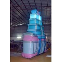 Pink And Blue Inflatable Bouncy Castles For Parties / Ceremonies Manufactures