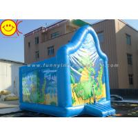 PVC Kids Inflatable Jumper Commercial Dinasaur Inflatable Bouncer Cute Blue Dragon Manufactures