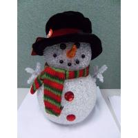 Holiday Decoration LED Christmas Snowman , Light Up Snowman Indoor 3xAAA Battery Manufactures