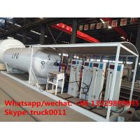 Factory direct sale best price 25m3 mobile skid lpg tank with digital scales, skid lpg gas plant with 4 digital scales Manufactures