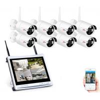 wholesale 8CH Wireless Surveillance System 12LCD Screen Wifi NVR K 960P HD H.264 Outdoor Night Vision Security Camera S Manufactures