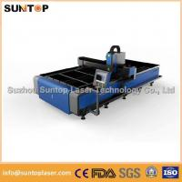 Stainless steel and mild steel CNC fiber laser cutting machine with laser power 1000W Manufactures