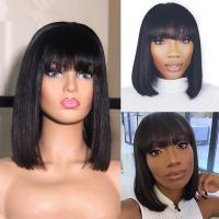 Short Straight Human Hair Full Lace Bob Wigs With Baby Hair 12 Inch Manufactures