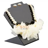 Black Jewellery Necklace Display Stands Two Holes For 2 Necklace And 1 Set Earrings Manufactures