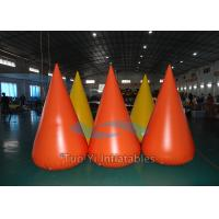 Quality 0.6mm PVC Tarapulin Floating Inflatable Buoys , Inflatable Water Barrier For for sale