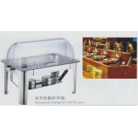 Restaurant Stainless Steel Cookwares Oblong Roll Chafing Dish With PC Cover Manufactures