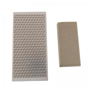 China Porous Honeycomb Ceramic Infrared Gas Burner Plate For Oven , Customized on sale