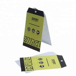 Printable Logo Custom Printed Paper Tags / Kraft Hang Tags With Eyelets Manufactures