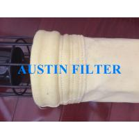 High temperature filter bag with PTFE coating non woven FMS9806 Manufactures