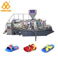 Automatic Rotary PVC PCU Kids' Sandals Making Machine With Air Blowing 20 Stations Manufactures
