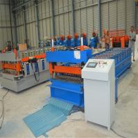 380V 3 Phase Metal Roofing Roll Forming Machine With Cr12 rollers Manufactures