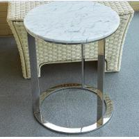 stone top polished  stainless steel metal side table/End table/coffee table/C table, hotel furniture,casegoodsTA-0086 Manufactures