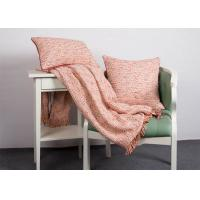 100% Polyester Woven Orange Cushion Covers , Elegant Indoor / Outdoor Throw Pillows Manufactures