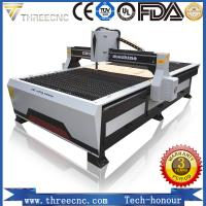 Chinese cheap cnc plasma cutting machine TP1325-125A with Hypertherm plasma power supplier. THREECNC Manufactures