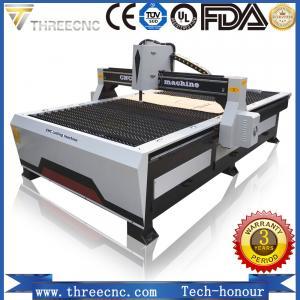 small cnc plasma cutting machine TP1325-125A with Hypertherm plasma power supplier. THREECNC Manufactures