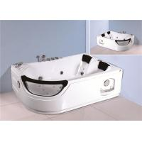 Jacuzzi Bubble Bath Jetted Corner Whirlpool Bathtub With Shelf 1800*1230*680mm Manufactures