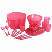 26 or 30 Pieces Picnicware Set, Made of PP, Available in Various Sizes and Colors Manufactures