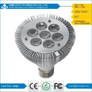 CE RoHS LED Par Light, 2700-7000K Hotel, Offices LED Par Lights Bulbs 7W Manufactures
