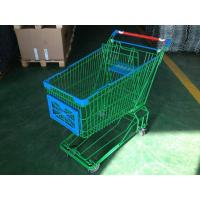 150L Asian Supermaket Wire Shopping Trolley With Swivel Casters Manufactures