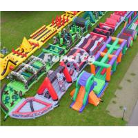 En14960 Outdoor Popular Adults Inflatable 5k Obstacle Course For Running Race Manufactures