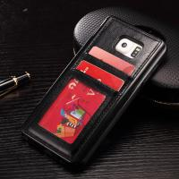 Quality Slim Card Holder Leather Back Cover For Samsung S8 Crazy Horse Classic for sale