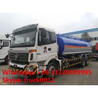 Foton Auman 6*4 fuel tanker 20-25m3 heavy fuel oil truck for sale, factory sale best price FOTON 22m3 fuel tank truck Manufactures